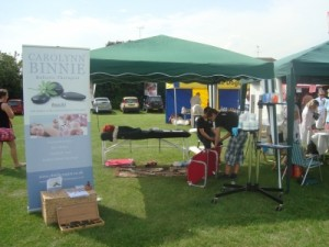 Herne Bay Massage Setting up at Fun Day 2012